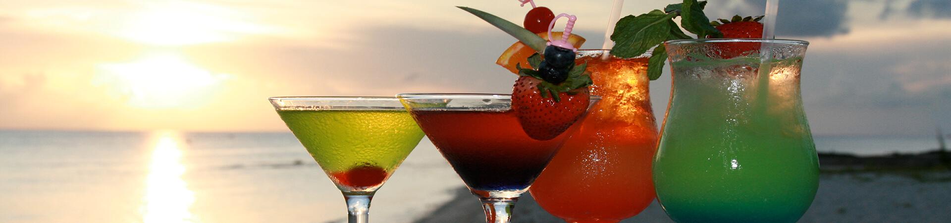 Cocktails Menu Banner - The Wharf Restaurant & Bar
