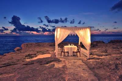 Try the Sea Side Gazebos for your next Romantic Dinner Date in the Cayman Islands!