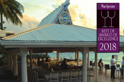 "The Wharf Restaurant Receives Wine Spectator ""Award of Excellence"" for 2018"