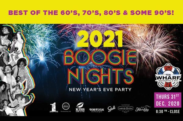 New Year's Eve Boogie Nights on the Waterfront at The Wharf!
