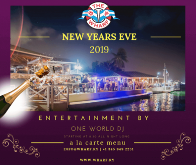 Spend New Year's Eve at The Wharf restaurant and say 'Welcome 2019'