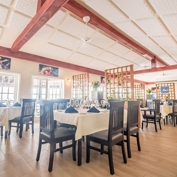 Indoor Dining Room in the Cayman Islands - The Wharf