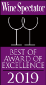 Wine Spectator Award of Excellence 2019