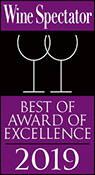 "Wine Spectator ""Award of Excellence"" 2019 - The Wharf Restaurant & Bar"