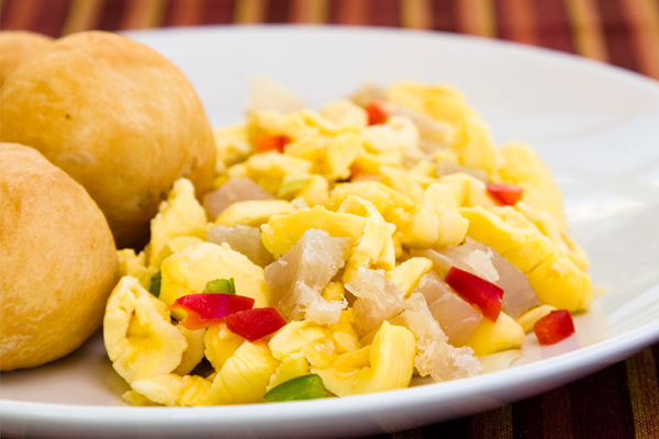 Ackee with Saltfish