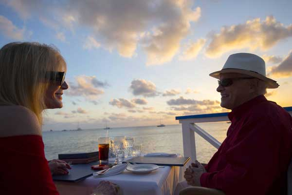 Enjoy the Romantic Waterfront dining at the Wharf Restaurant