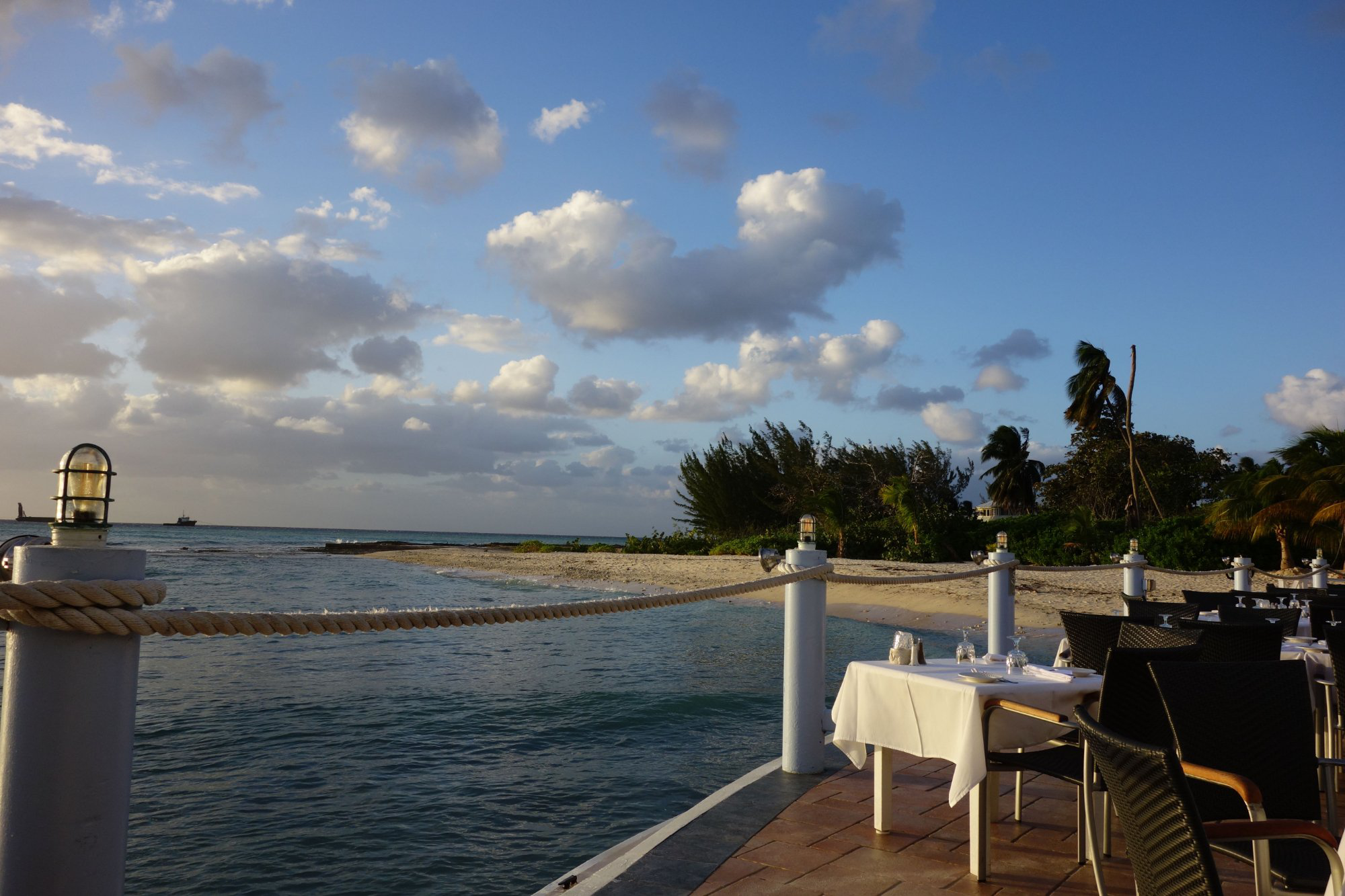 Waterfront Dining at the Wharf Restaurant, Cayman Islands