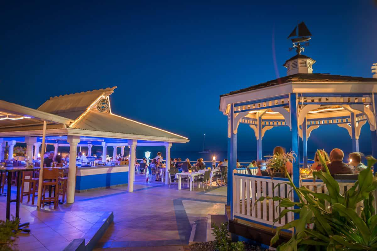 Gazebo Dining at the Wharf Restaurant, Cayman Islands