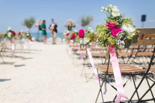 The Perfect Wedding on a  Picturesque Beach